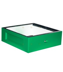 Honingkamer spaarkast groen gelakt polystyreen met extra vliegopening