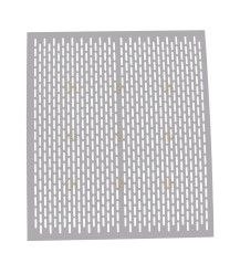 Spaarkast polystyreen / Simplex koninginnerooster geperforeerd aluminium 46 x 46 cm