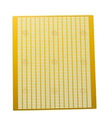 Koninginnerooster geel pvc 50 x 42,5 cm