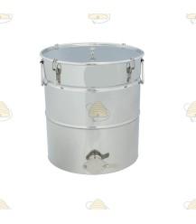 Conisch aftapvat RVS 30 liter (40 kg)