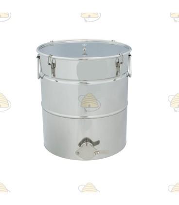 Konisch aftapvat RVS 30 liter (40 kg)