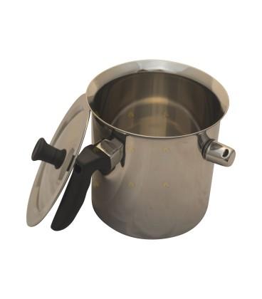 Wassmeltpan van RVS / Au bain Marie pan