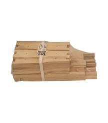 MiniPlus ramen ongemonteerd koppelbaar (hout, 168 mm) per 10 stuks