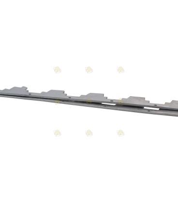 Afstandsrepen 11 raams aluminium 2 mm