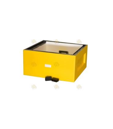 Broedkamer spaarkast geel gelakt polystyreen (met extra vliegopeningen)