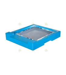 Bodem spaarkast blauw gelakt polystyreen