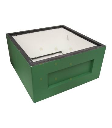 Broedkamer spaarkast groen gelakt polystyreen (zonder extra vliegopeningen)