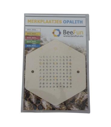 Merkplaatjes opalith (BeeFun)