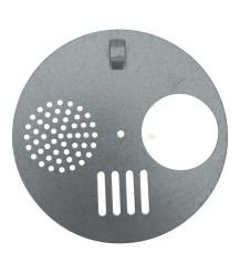 Vlieggatschijfje metaal 12,5 cm
