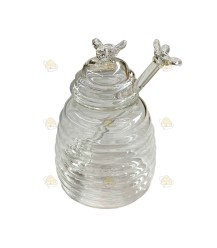 Glazen honingpotje groot