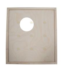 Spaarkast houten dekplank 47,2 x 42,1 cm met voeropening voor