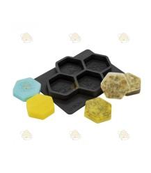 Gietvorm voor 4 honingraat zeepjes
