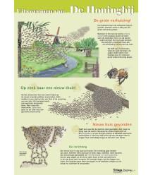 Uitzwermen van de honingbij, A4 kaart