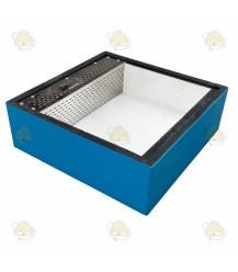 Voerbak voor de spaarkast blauw gelakt polystyreen