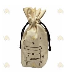 Tasje met bijenkast voor om honingpot