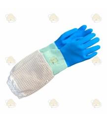 Imkerhandschoenen AirFree, rubber & ventilatie blauw (BeeFun)