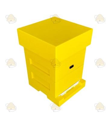 Spaarkast geel gelakt polystyreen BeeFun