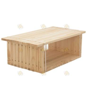 Simplex honingkamer gemonteerd grenen horizontaal