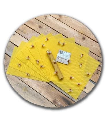 Kaarsenrol pakket met bijtjes groot