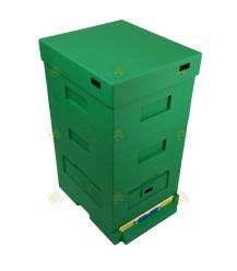Dadant Blatt / Frankenbeute kunststof bijenkast groen 10-raams