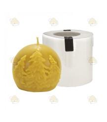 Kerstbal met kerstboom afbeelding, gietvorm