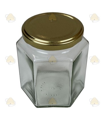 390ml / 500 gr met deksel, hexagonaal, zeshoekig