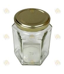 Hexagonale pot 278ml / 350g, met deksel