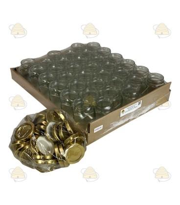 116ml / 140 gr met deksel, hexagonaal, zeshoekig