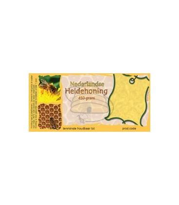 Honingetiket voor 450 gr met of zonder soortnaam