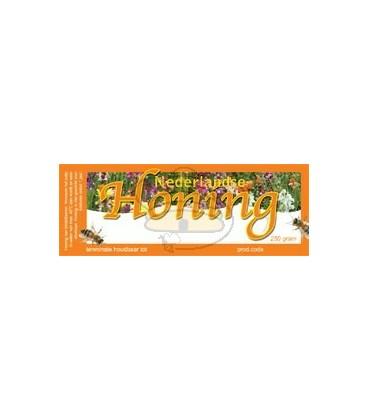 Honingetiket voor 250 gr met bloemen (100 stuks)