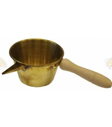 Koperen kaarsen gietpan enkelwandig