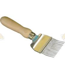Ontzegelvork gebogen tanden hout