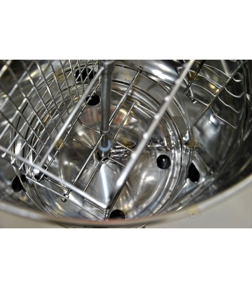 Binnenzijde slinger inclusief zeef en opvangvat (rijper)